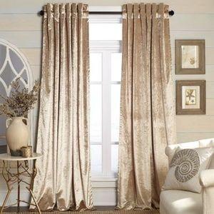 Lush Decor Velvet Dream Curtains in Gold (a Pair)